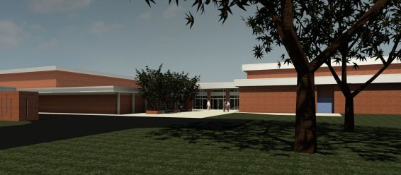 Union_Pines_Gym_Addition_VIEW_FROM_WOODED_COURTYARD.jpg